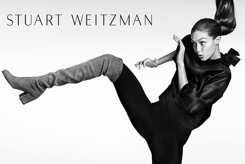 Gigi Hadid is sassy for Stuart Weitzman's Fall 2016 Campaign