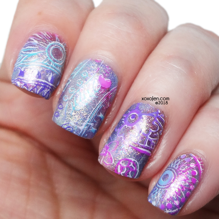 xoxoJen's swatch of Hella Handmade Creations Nailart