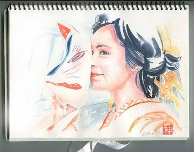 透明、アイドル、似顔絵、女優、手描き、絵の具、挿絵、イラスト、絵、資料,イラストレーター検索、イラストレーター一覧、イラスト制作、和風イラスト