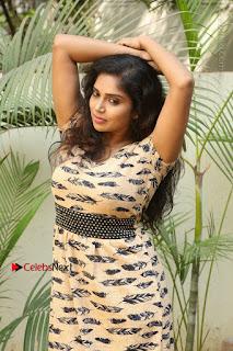 Telugu Actress Karunya Chowdary Stills in Short Dress at ATM Not Working Press Meet  0041.jpg