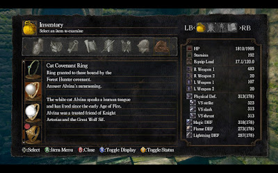 dark souls video game 2011 menu cat covenant ring