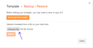Restore Your Blogger Template