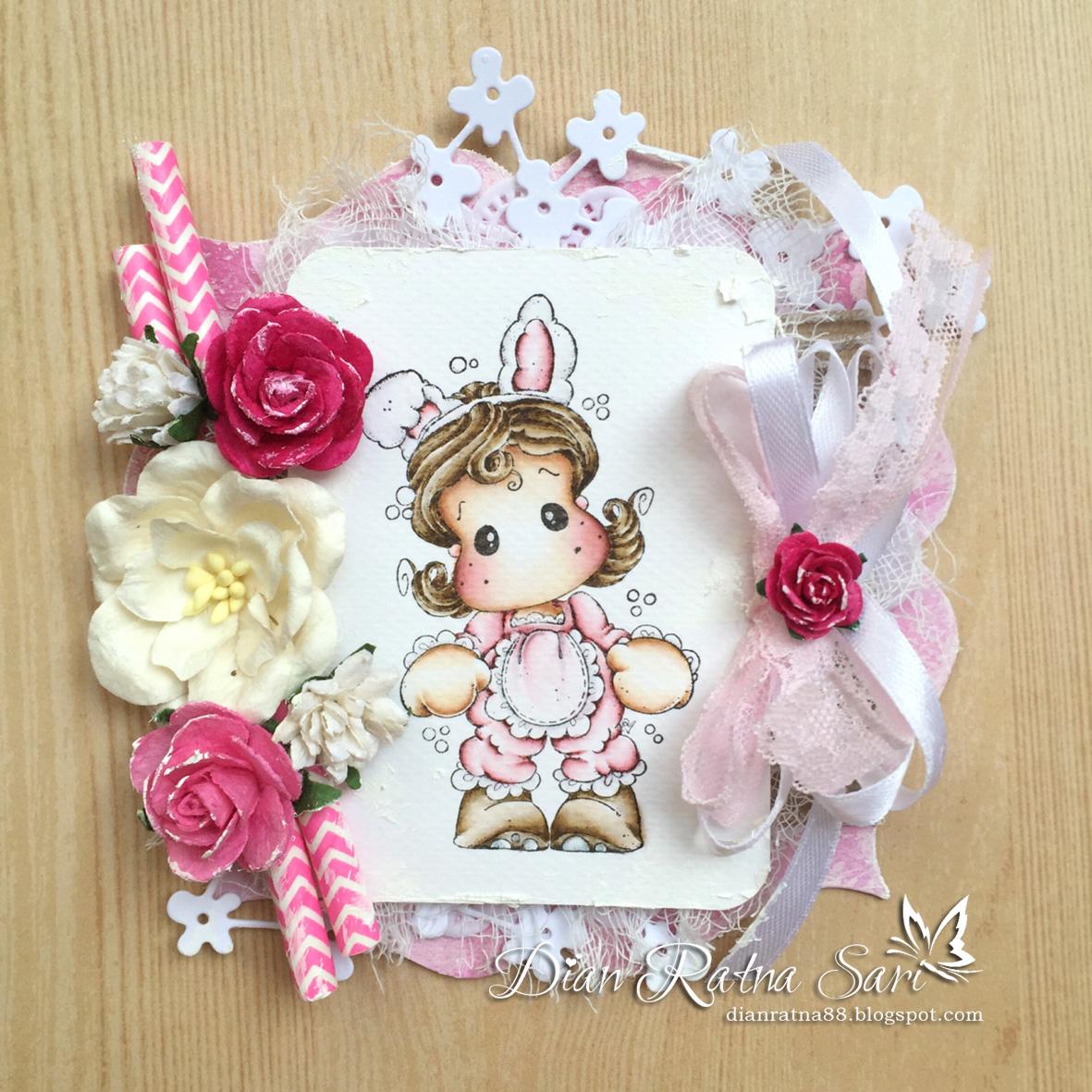 dian s craft room easter card using little miss tilda