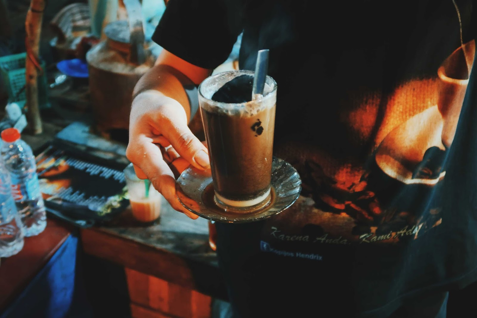 Kopi Joss is a local coffee of Jogja with charcoal