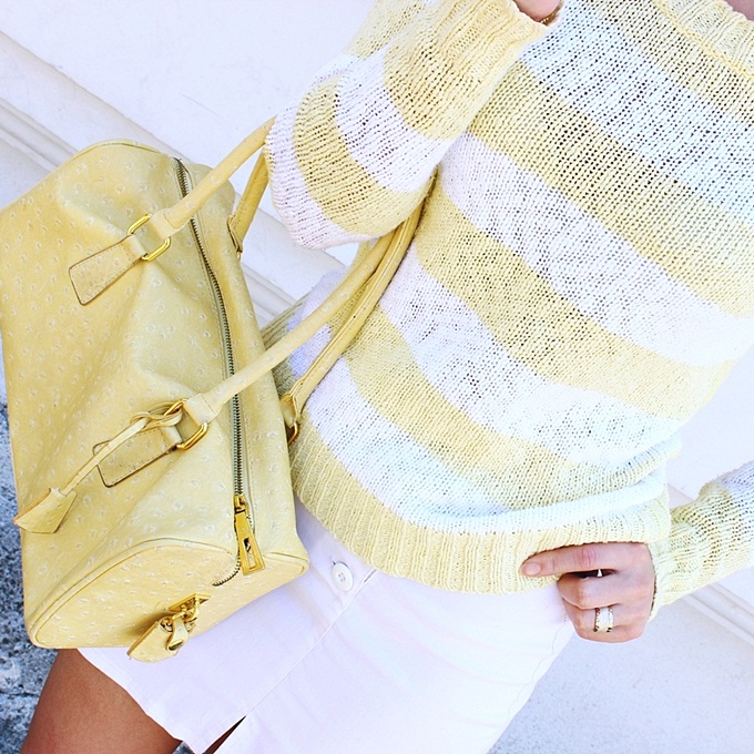 yellow and white spring summer outfits