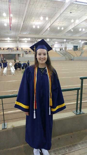 my happy high school graduate