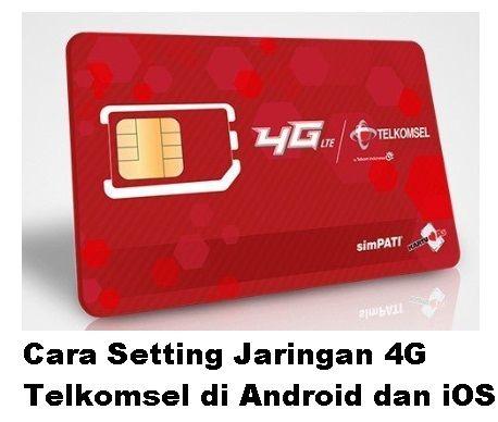 Setting mengatur 4G Telkomsel di Android
