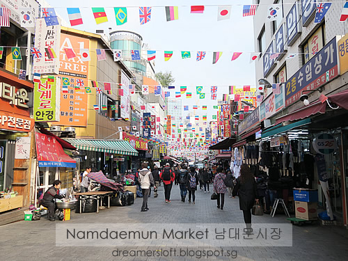 DreamersLoft Seoul November 2016 Day 3 Namdaemun Market Ewha