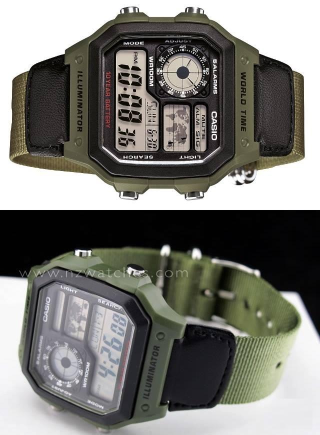 83e4ea715b0 Relógio Masculino Casio Digital - Resistente à Água AE-1200WHB-3BVDF