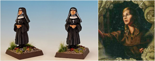 Sister Mary, the nun painted miniature