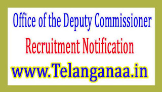 Office of the Deputy Commissioner Assam Recruitment Notification 2017