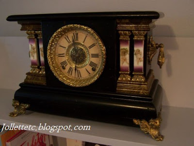Adamantine mantle clock from Sudie Eppard Rucker  https://jollettetc.blogspot.com