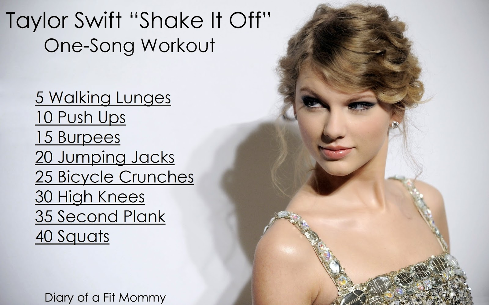 """Diary of a Fit Mommy: Taylor Swift """"Shake It Off"""" One Song ..."""