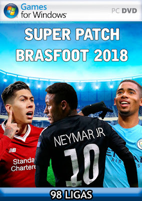 Brasfoot 2018 Super Patch (98 ligas), mega patch, todas equipes, brasil argentina, europa, alemanha, américa do sul, áfrica, ásia, oceania, china, grécia, macedonia, chile, mega patch