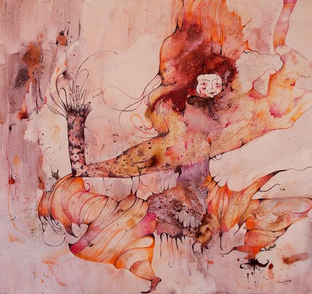 Наивные рисунки акварелью. Estela Cuadro 23