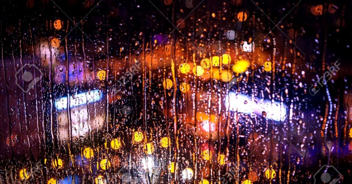 DUYÊN TÌNH - Page 4 Night-city-lights-behind-rainy-window-stock-photo-picture-and