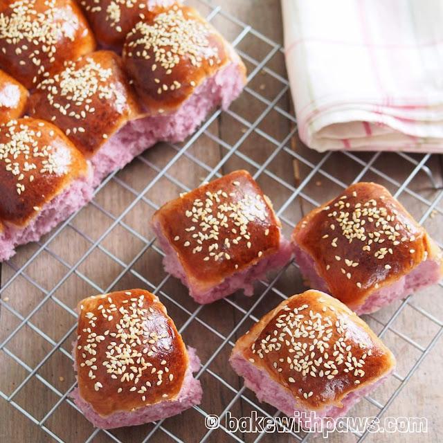 Japanese Purple Sweet Potato Bun
