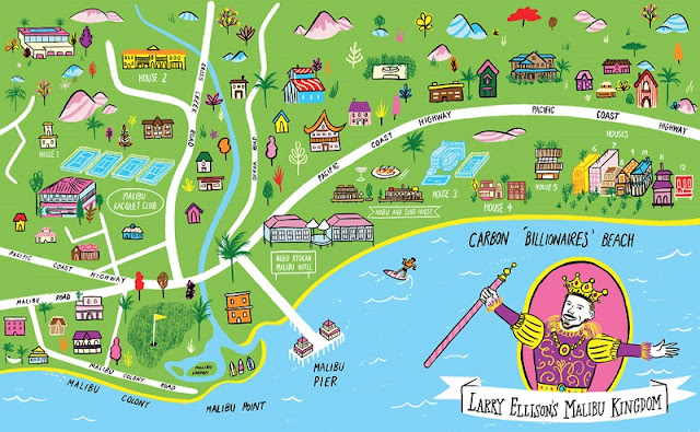 Mapa das melhores regiões onde ficar em Malibu