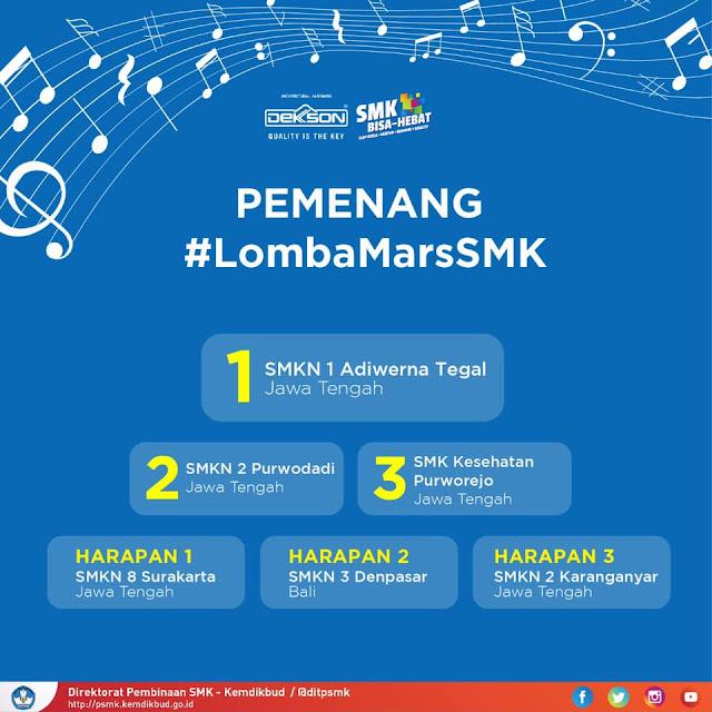 SMKN 2 Purwodadi Juara 2 Cipta Lagu Mars SMK 2018