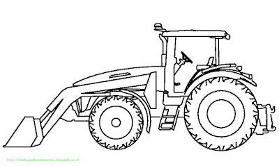 Mewarnai Gambar Bulldozer - 3