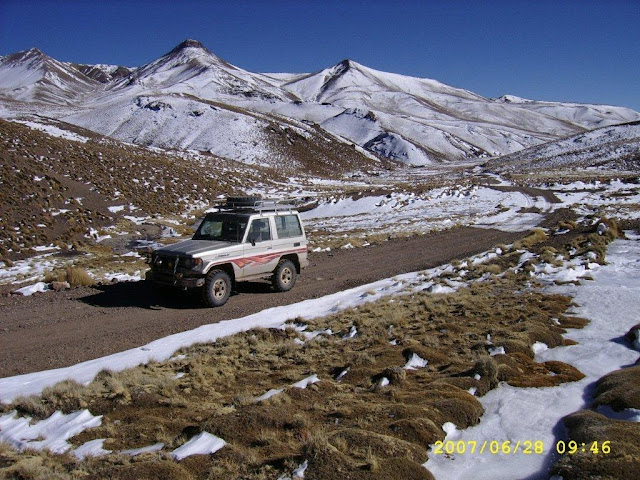 In the Andes on 4.400 meters above Sea level