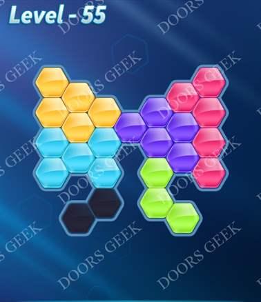 Block! Hexa Puzzle [Intermediate] Level 55 Solution, Cheats, Walkthrough for android, iphone, ipad, ipod