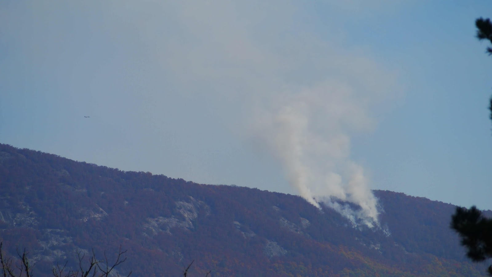 Jones Gap Fire Photo by Bobby Coggins