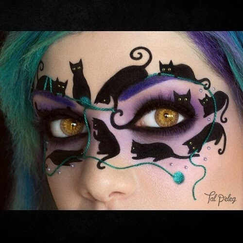 03-Feline-Masquerade-Tal-Peleg-Eye-Make-Up-Art-Drawings-www-designstack-co