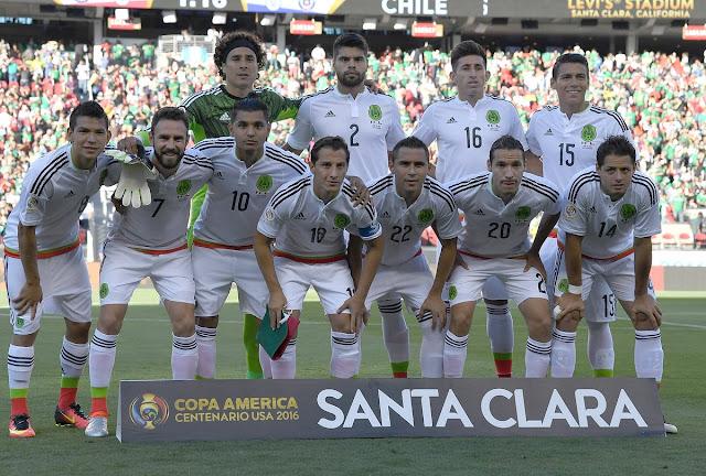 Formación de México ante Chile, Copa América Centenario, 18 de junio de 2016