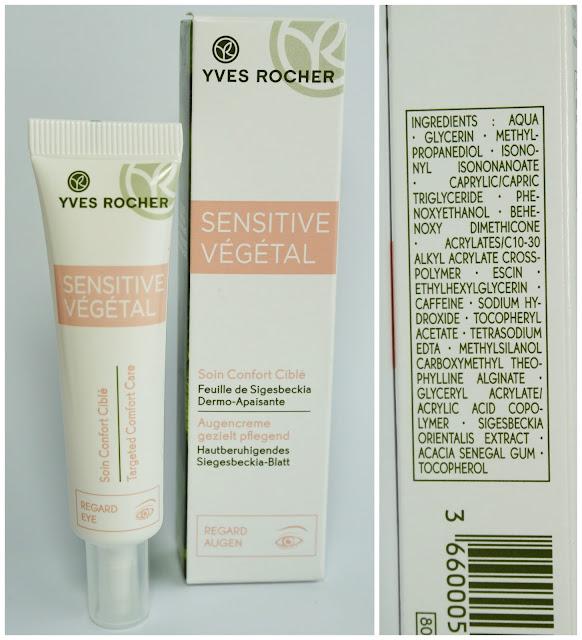 Yves Rocher - Sensitive Végétal Augencreme INCIs, Inhaltsstoffe, Ingredients