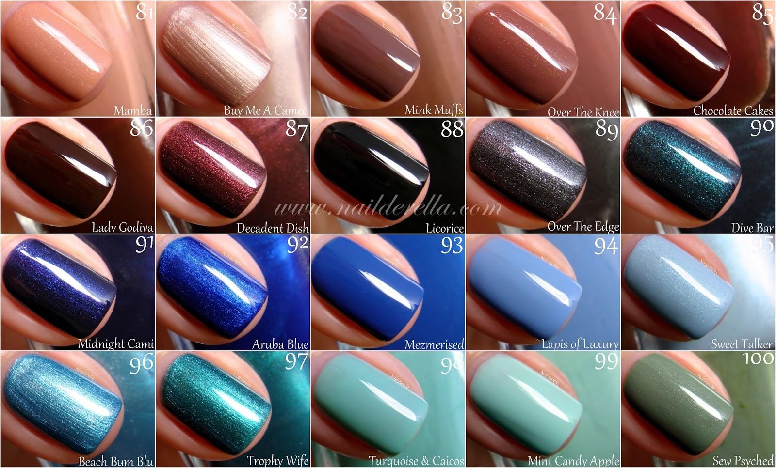 Essie Color guide #1-100! - Nailderella