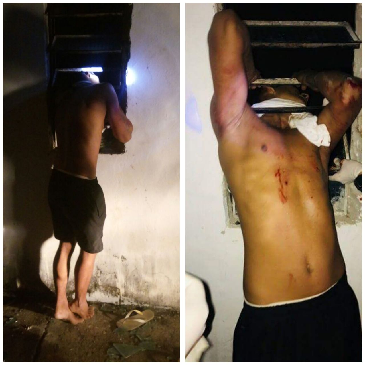 Inusitado: Homem fica preso em janela durante tentativa de furto em Tianguá