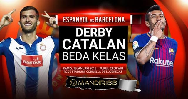 Prediksi Bola Espanyol Vs Barcelona , Kamis 18 January 2018 Pukul 03.00 WIB