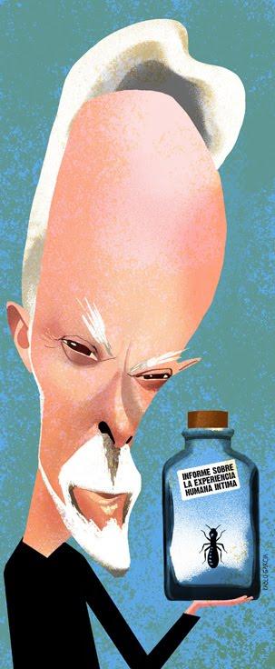Ilustración de Pablo García del escritor sudafricano J. M. Coetzee.