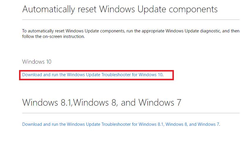 download windows 8.1 update troubleshooter