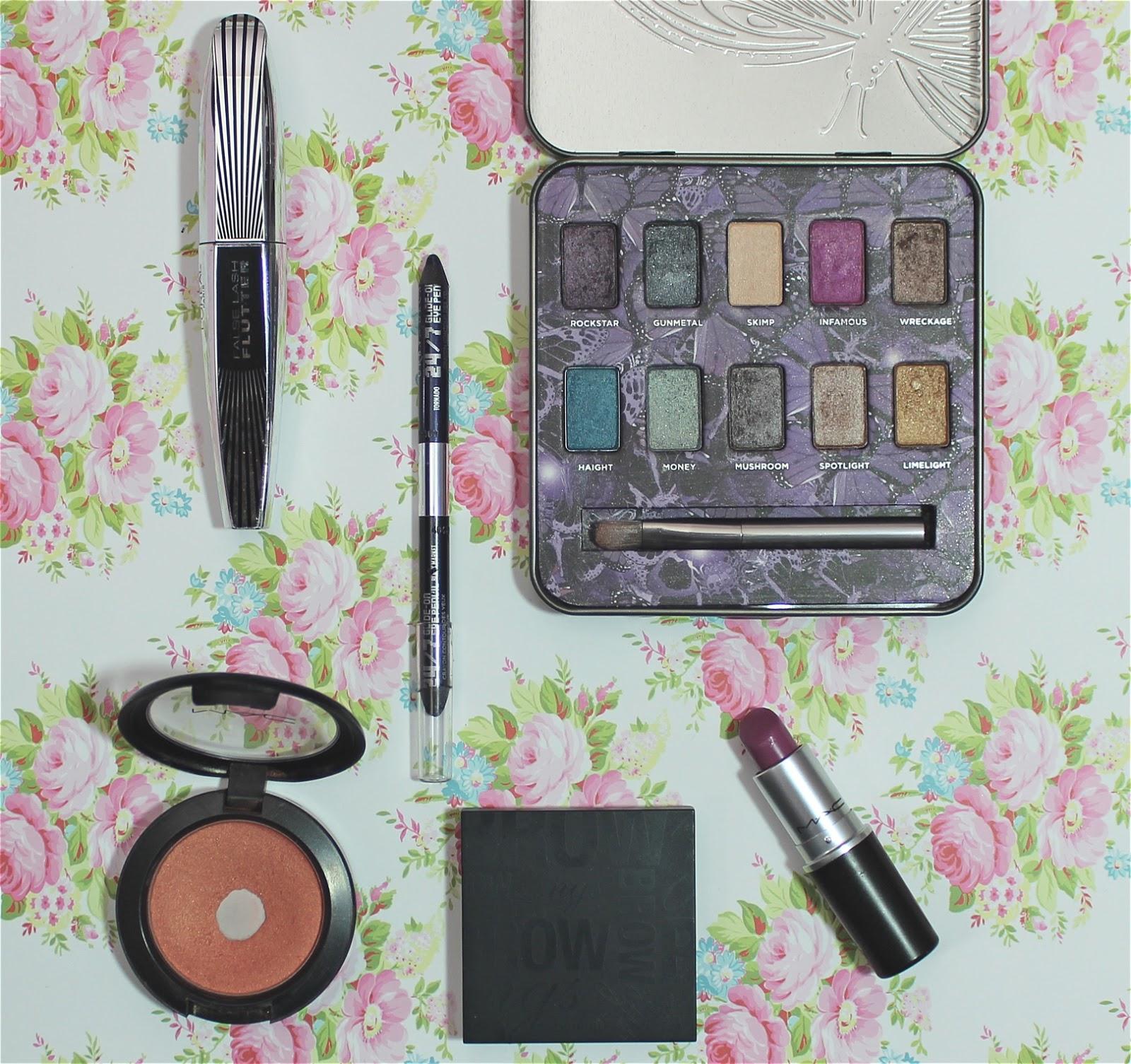 makeup look purple