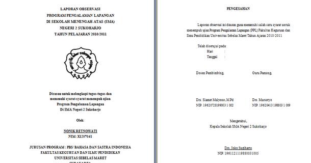 Contoh Pendahuluan Laporan Observasi di Sekolah (PPL ...