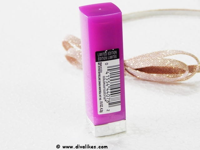 Maybelline Color Sensational Lipstick Carnation Cabernet 970 Packaging