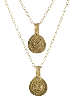Double gold charm necklace