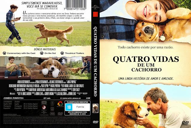 Capa DVD Quatro Vidas De Um Cachorro