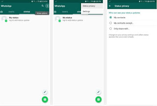Cara Berbagi Update Status Whatsapp di iPhone atau Android