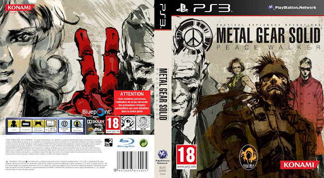 Capa Metal Gear Solid Peace Walker PS3