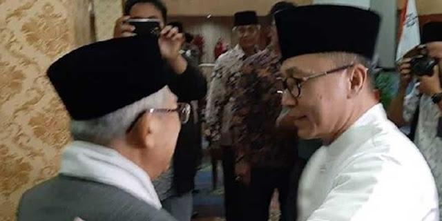 Ucapan Selamat Zulkifli Hasan kepada Maruf Amin Indikasi PAN Tinggalkan Prabowo-Sandi