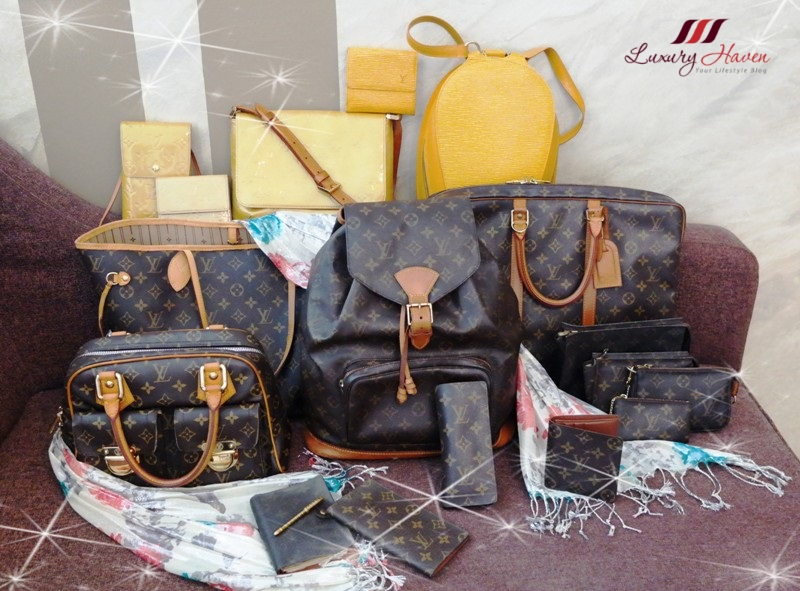 louis vuitton monogram canvas epi leather vernis bags