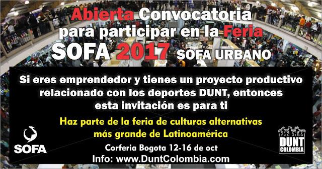 Inscribirse a la convocatoria de emprendedores DUNT para SOFA 2017