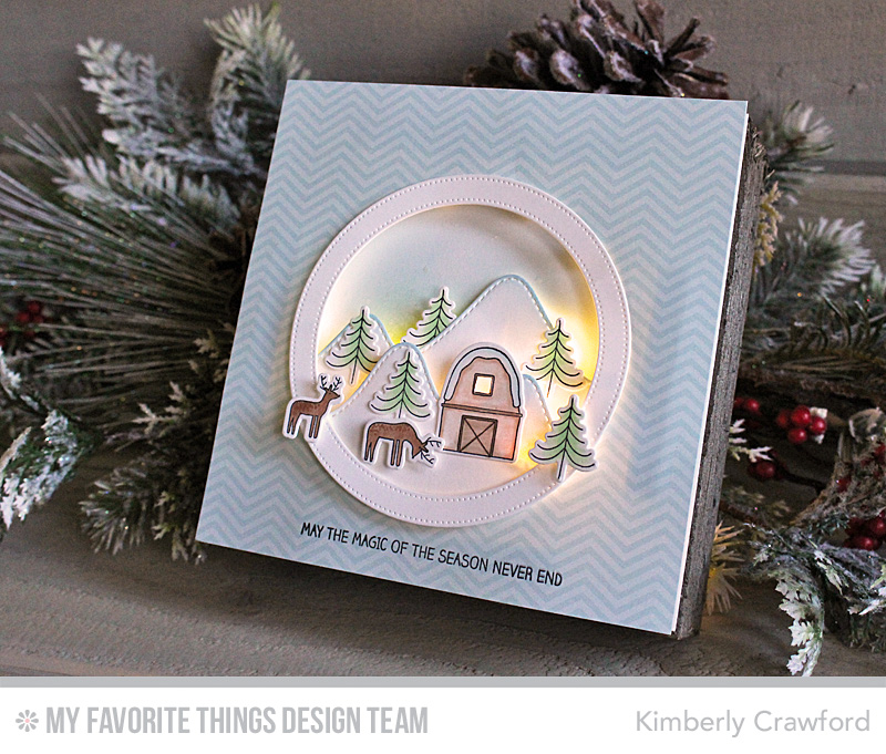 For The Love Of Paper: Lighted Christmas Wall Hanging; MFT