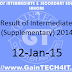 Result of Intermediate (Supplementary) 2014