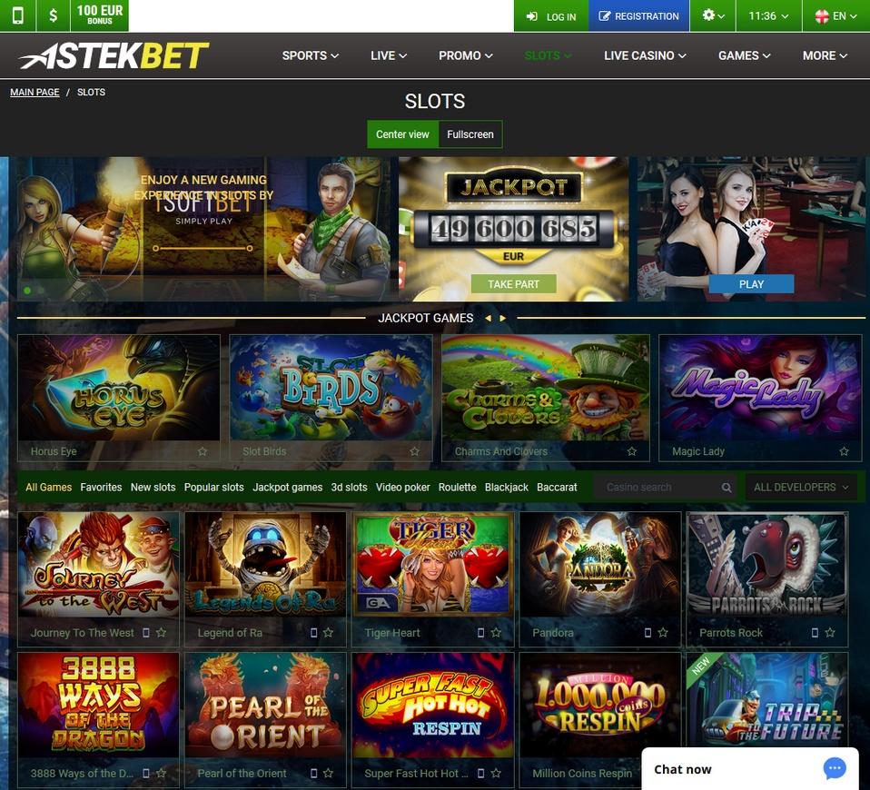 Astekbet Screen