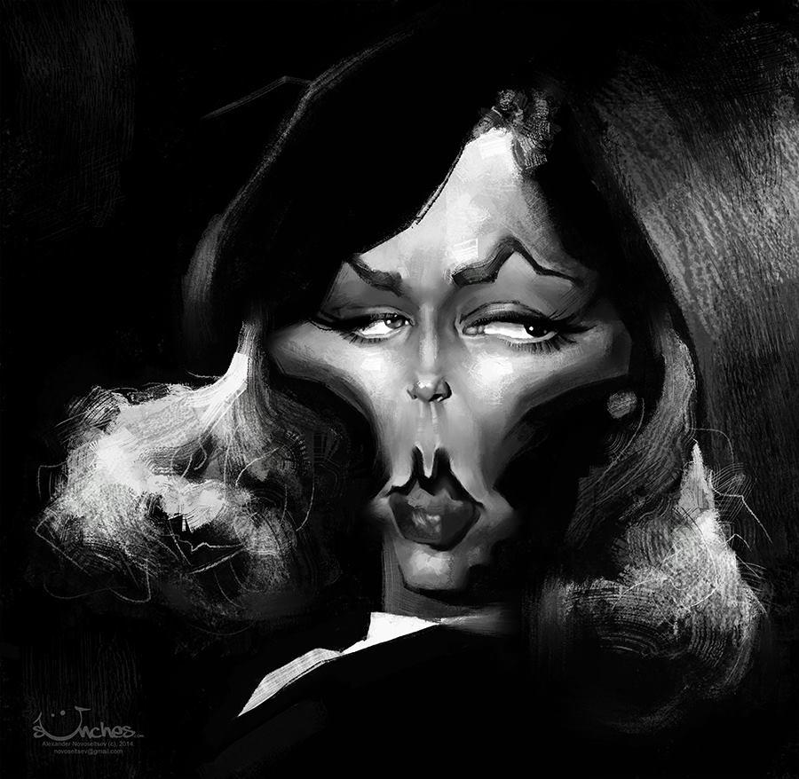 Lauren Bacall por Alexander Novoseltsev