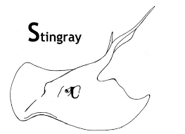Best Images Stingray Coloring Pages Animals